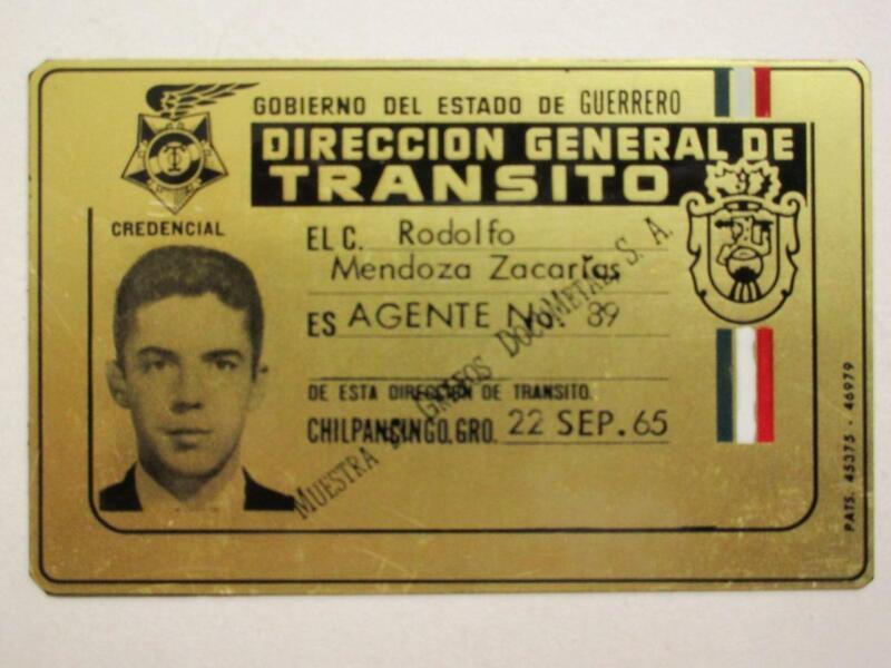 OBSOLETE 1965 GUERRERO MEXICO TRAFFIC AGENT MEXICAN POLICE BADGE POLICIA