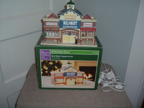 2008 Lighted Walmart Supercenter From Traditional Vintage Collection In Box