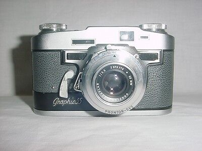 Vintage Graflex Graphic 35 Film Camera F/3.5 50mm Lens & Lieca Light Meter 2