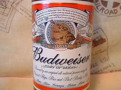 "Budweiser Hawaii ""ALOHA"" Label ~ Glass 12oz Bottle ~ RARE"