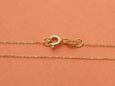 Solid 14K Yellow Gold Cable Chain Necklace 1 2Mm  Real Gold   Wholesale Prices