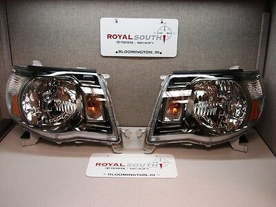Toyota Tacoma TRD Sport Left & Right Updated Front Headlight Set Genuine OE