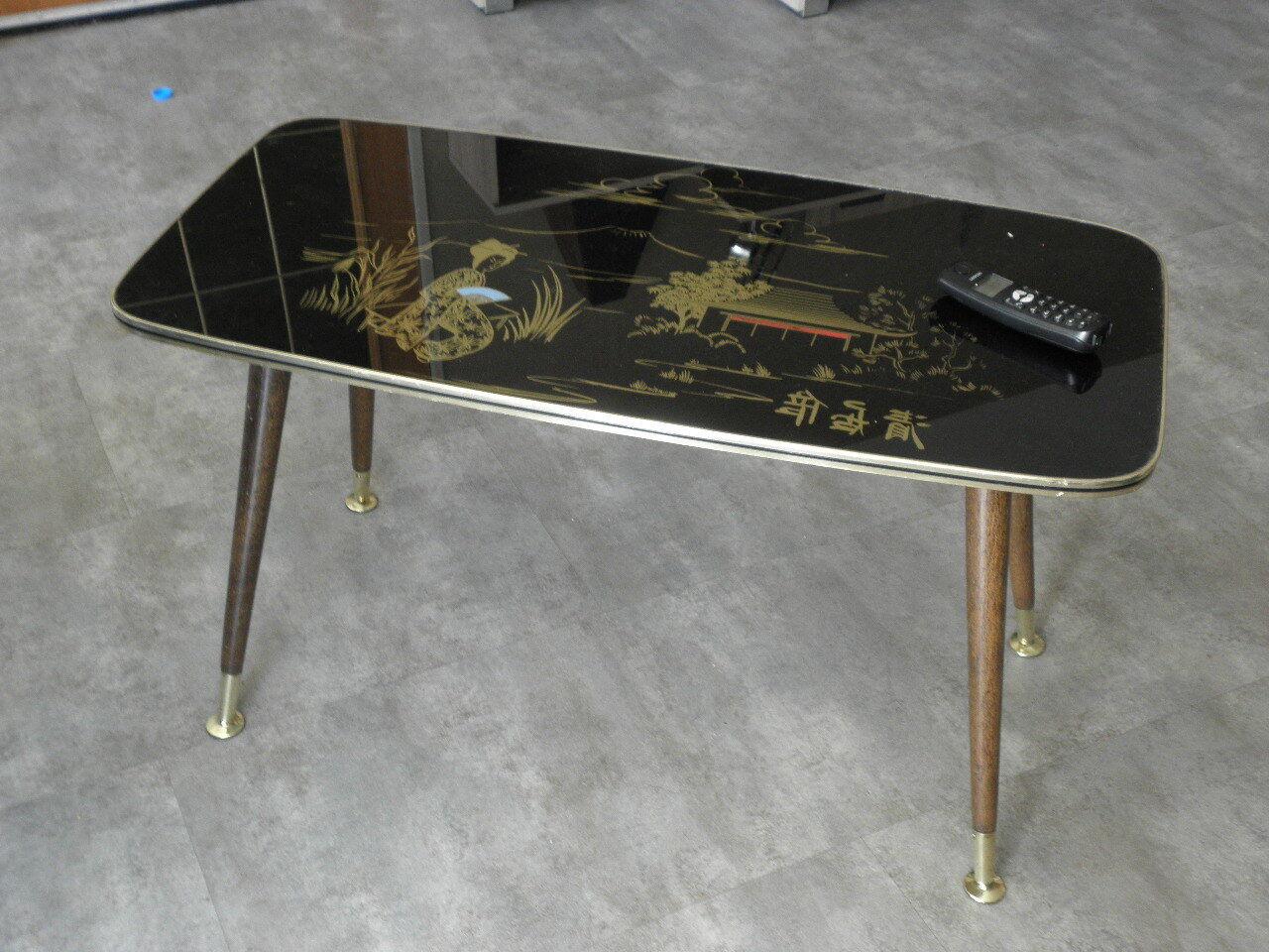 Table Basse En Formica détails sur table basse japonisant formica scandinave design vintage mid  century