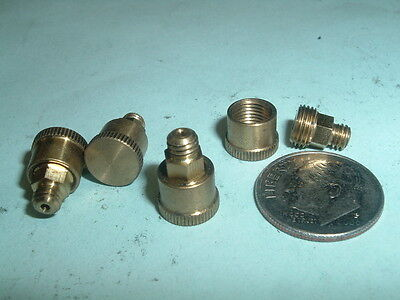 4 Mini Model Hit Miss Gas Engine Or Steam Engine Brass Grease Cups 8-36 Thd