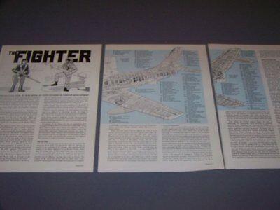 VINTAGE..F-86E SABRE & MIG-15BIS....CUTAWAY/DETAILS...RARE! (975B) ()