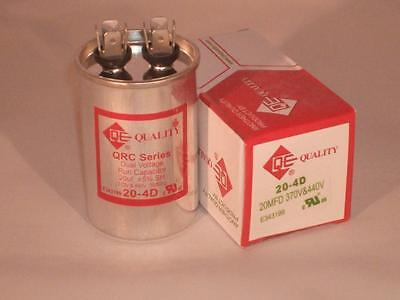 20 Mfd 370-440vac Round Electric Motor Run Oil Filled Capacitor 20 Uf Hvac Volts