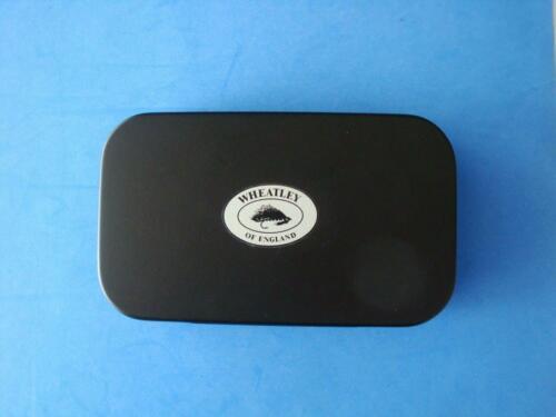"Richard Wheatley Fly Box--Black Aluminum 6"" x 3 1/4"" Very Good Condition"
