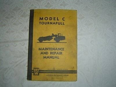 Letourneau Tournapull C Scraper Maintenance Repair Service Manual