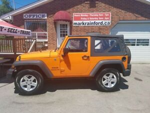 2013 Jeep Wrangler SPORT 3.6 V6 6 Spd Manual Soft Top