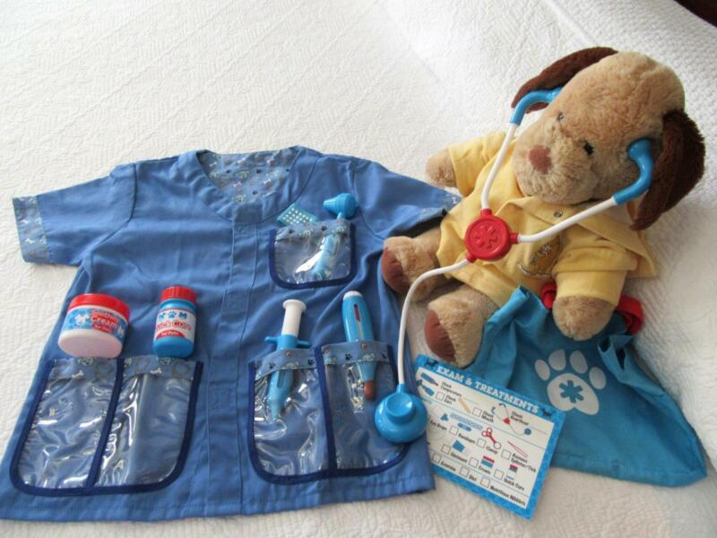 Childs Veterinary Animal Doctor VET Lab COAT with a BUILD-A-BEAR Dog Patient