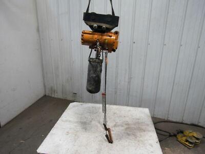 Ingersoll Rand Ml500k-1da20-016u 12 Ton Pneumatic Air Chain Hoist Wtrolley