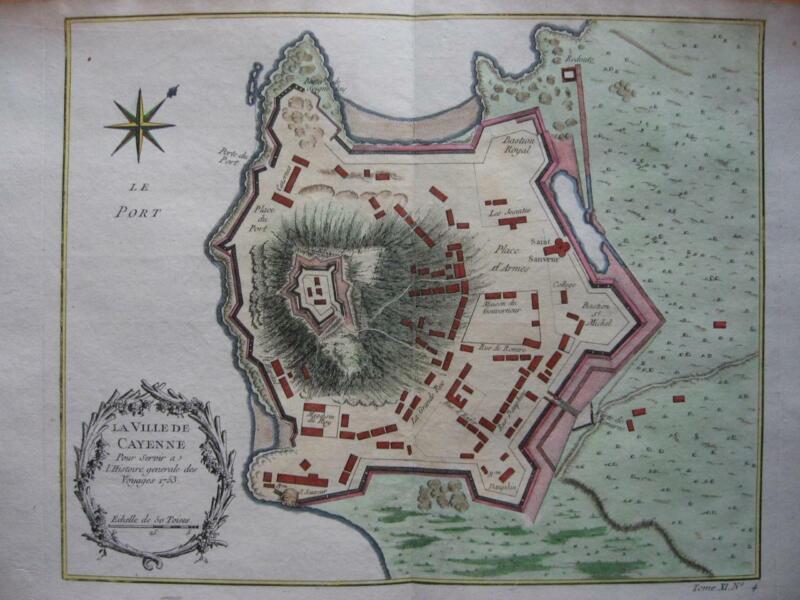 1753 - BELLIN - GUYANE  Map CAYENNE  French Guyana