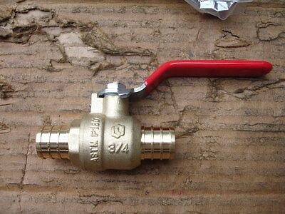 Watts 4 34 To 34 Pex Crimp Brass Ball Valve Inline Full Port Lfwpbv-12 New