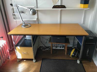 Genuine Herman Miller Eames Desk Unit - Zincmulticolor Left Hand Drawer