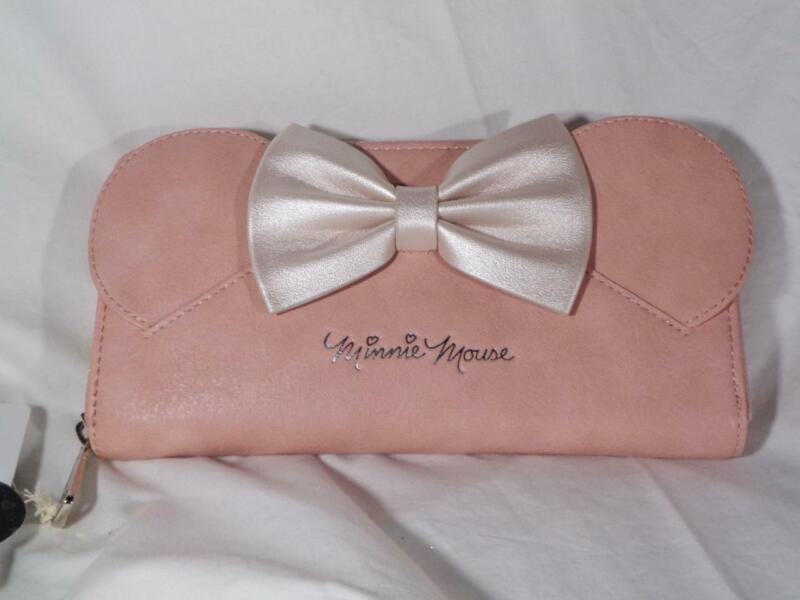 NWT DISNEY LOUNGEFLY MINNIE MOUSE PINK BOW WALLET DiSNEY STORE~FREE US SHIP