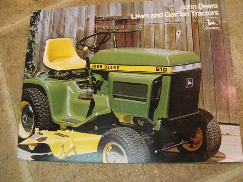 Vtg John Deere Lawn & Garden Tractors 400 300 Advertising Sales Brochure 1974