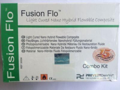 Fusion Flo Light Cured Kit Universal Nano Flowable Dental Composite 4 X Syrngs