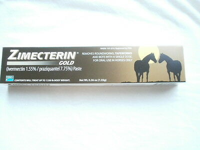 Ten  ZIMECTERIN GOLD Horse Wormer De-Wormer Tape Worm