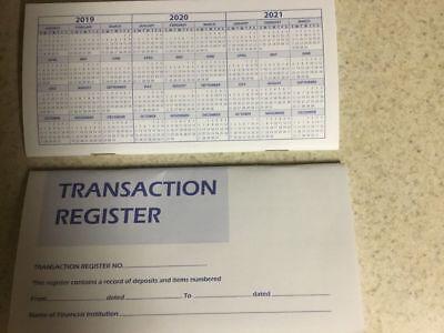 Checkbook Account Registers - 2019-20-21 - Transaction Bank Deposit Book Debit