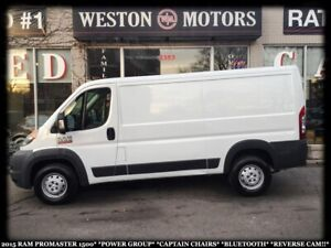 2015 Ram Promaster 1500*PWR GRP*CAPTAIN CHAIRS*BTOOTH*REVERSE CA