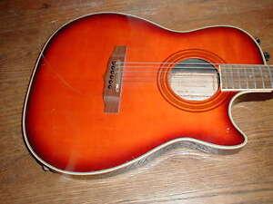 hohner professional acoustic electric guitar les paul shape solid body repai ebay. Black Bedroom Furniture Sets. Home Design Ideas