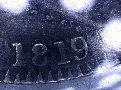 UK 1819 LX Crown, 1819/1818, ICCS Certified XF, Over date not noted on holder