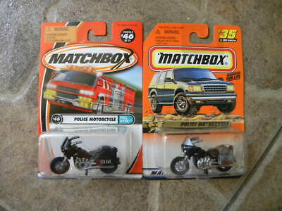 POLICE MOTORCYCLE        MATCHBOX     1:64 DIE-CAST  TWO MOTORCYCLE LOT