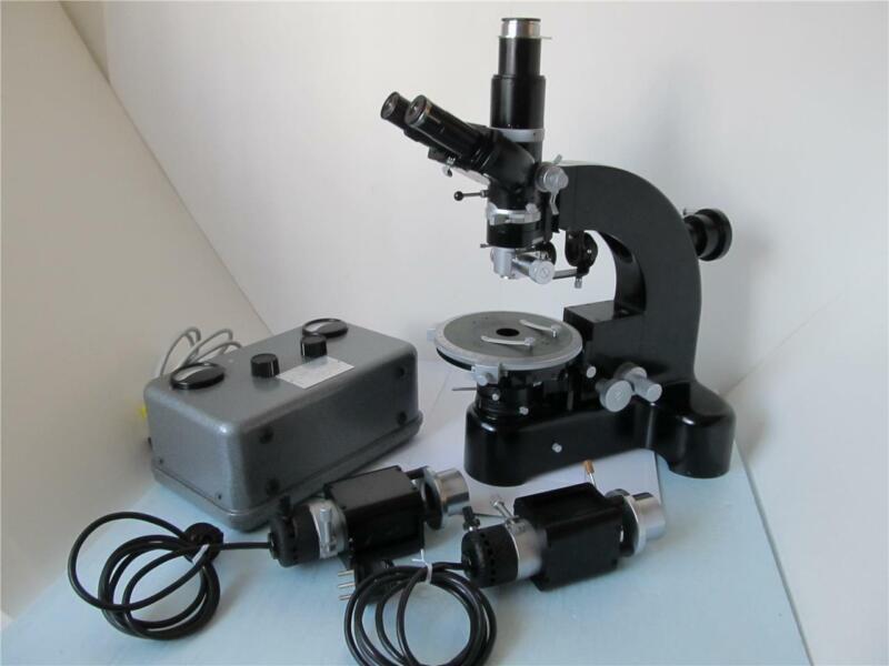 Vtg Leitz Wetzlar Ortholux Polarizing Microscope *****