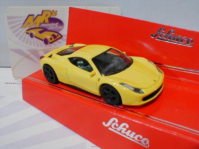 "Schuco 20116 - Ferrari 458 Italia "" gelb metallic "" Edition 1:64 NEU"