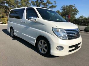 2004 Nissan Elgrand E51 Highway Sta 8 Seats Series 2 White 5 Speed Automatic Wagon Arundel Gold Coast City Preview