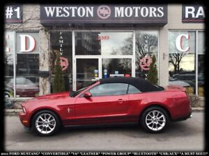 2011 Ford Mustang CONVERTIBLE*V6*LEATHER*PWR GRP*USB*AUX*A MUST