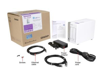 QNAP TS-231P-US 2-bay Personal Cloud NAS with DLNA, Mobile Apps and AirPlay Supp