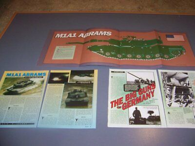"HISTORY..M1A1 BATTLE TANK & 8.8CM FLAK 18 ""88""...FOLD OUT POSTER..RARE! (668Q), used for sale  Columbus"