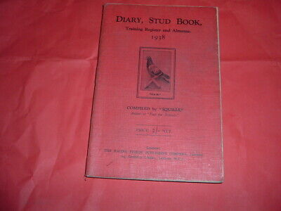 SQUILLS 1938 DIARY STUD TRAINING BOOK SOFT BACK 333 PAGES RACING PIGEON ASSOC