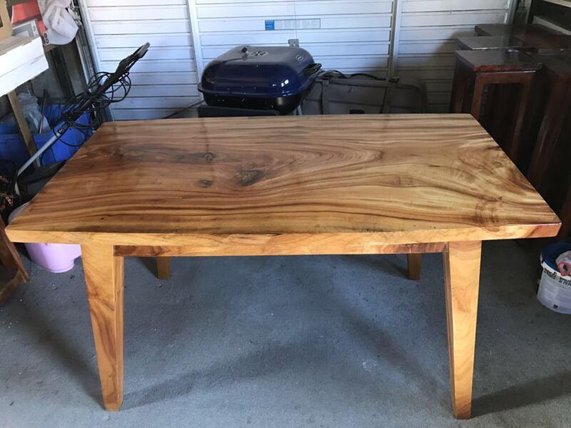 Camphor wood table