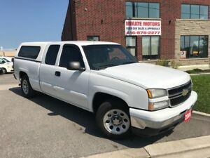 SHARP 2006 CHEVY SILVERADO LS EXT CAB, CERTIFIED, WARRANTY