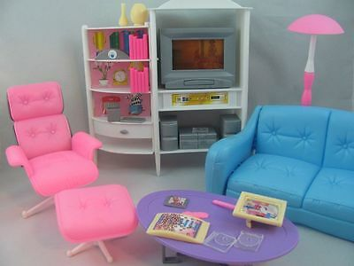 Barbie Size Dollhouse Furniture Family Room TV Otto  Sofa New