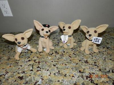 Taco Bell Talking Dogs Plush Stuffed Chihuahuas Yo Quiero Lot of 4