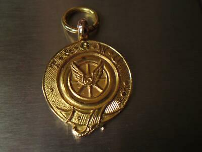 9ct Gold T&GWU Fob Coin Medal Thomas Fattorini Ltd Birmingham Hallmark 1930