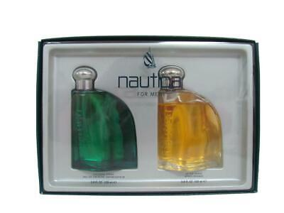 Nautica Classic for Men 3.4 Oz EDT Spray + 3.4 Oz After Shave Splash Damaged Box