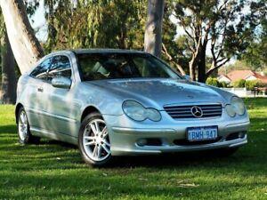 2003 Mercedes-Benz C-Class CL203 MY2003 C180 Kompressor Sports Silver 6 Speed Manual Coupe