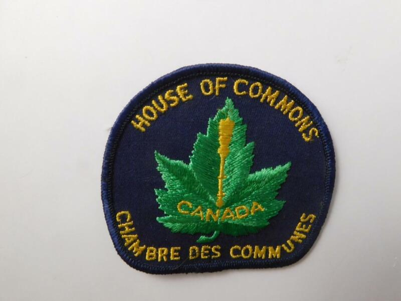 CANADA HOUSE OF COMMONS VINTAGE UNIFORM PATCH CREST POLITICS POLICE COLLECTOR