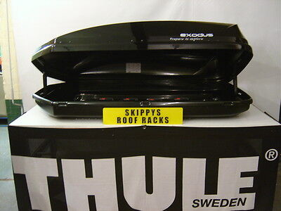 HALFORDS-EXODUS 470 BLACK GLOSS ROOF BOX (MADE BY THULE)