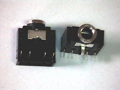 10x Klinkenbuchse 3,5mm Klinke Einbaubuchse stereo Print flache Ausführung