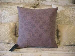 NEW (TAGS) SHERIDAN LINEN BLEND PLUM DAMASK KAINE CUSHION 45 X 45 Austral Liverpool Area Preview