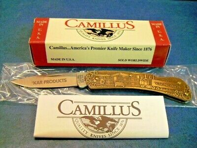 Camillus 864 Lock Blade Brass Handle KAR Products Special Edition Knife 94394