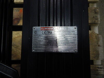 Aeg Elwood Gettys Permanent Magnet 4.80hp Ac Servo Motor S74h-tb0-3010 2500rpm