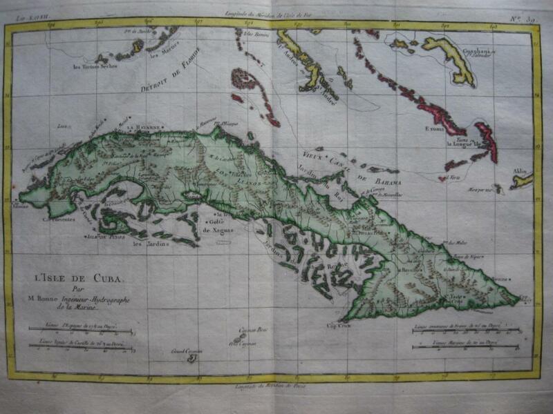 BONNE - Map  CUBA c1780