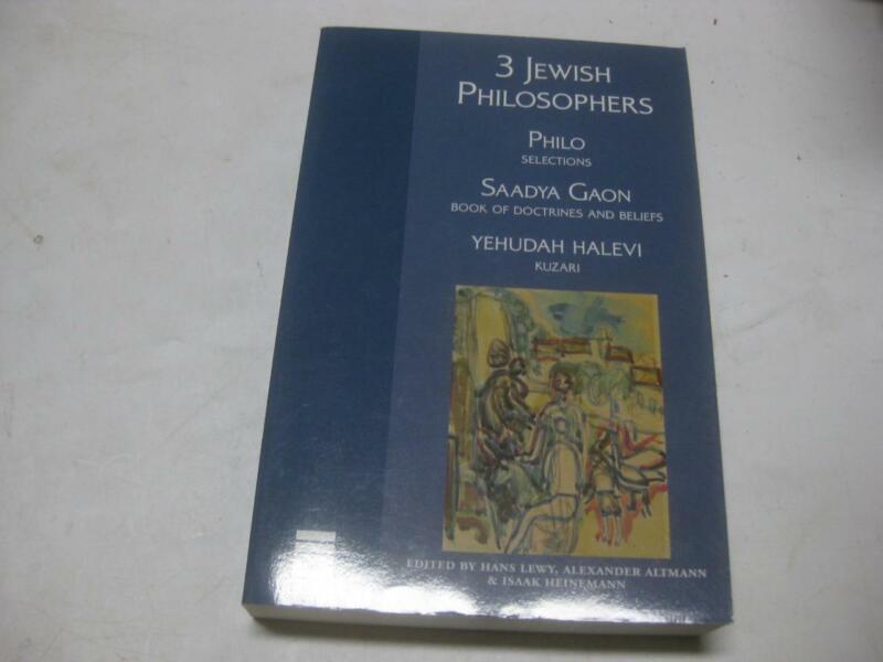 3 Jewish Philosophers Philo Saadya Gaon & Jehuda Halevi