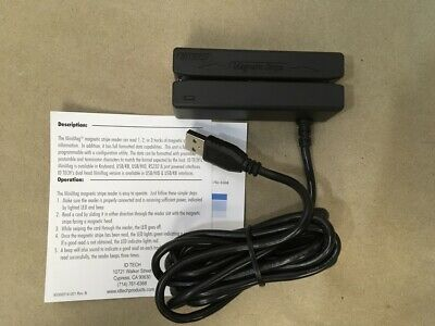 Id Tech Minimag Credit Card Reader Usb Idmb-334133b New